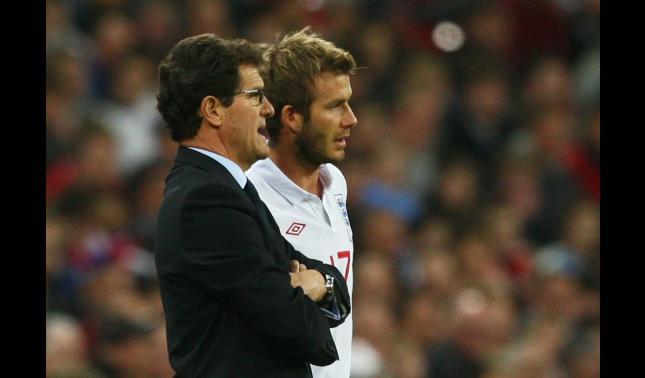 David Beckham, Fabio Capello