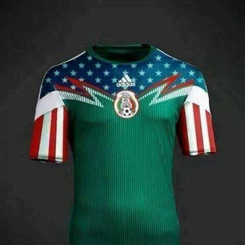 La camiseta de México para el Mundial 2014 (burla)