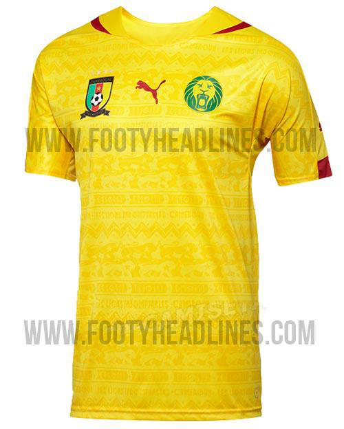 La camiseta suplente de Camerún para el Mundial de Brasil 2014