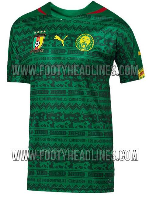 Camiseta de Camerún para el Mundial de Brasil 2014