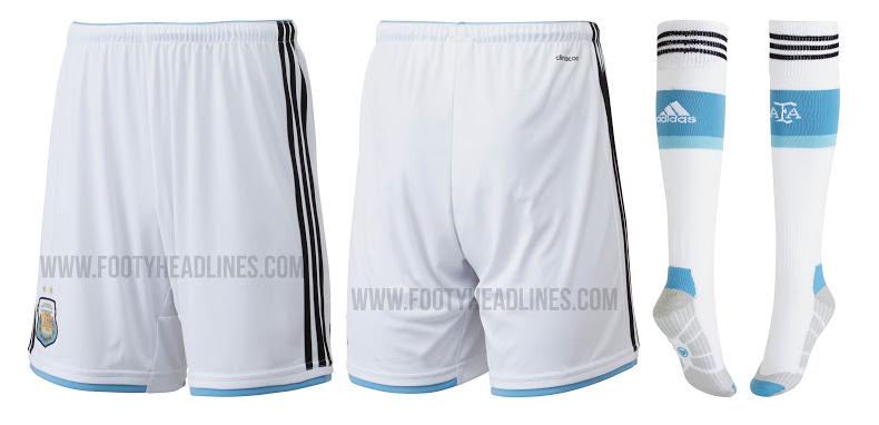 Pantalones blancos de Argentina para el Mundial de Brasil 2014