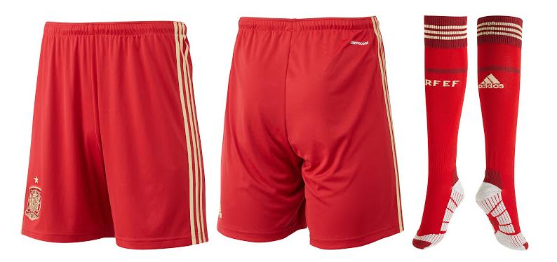 Pantalón rojo de España para Brasil 2014