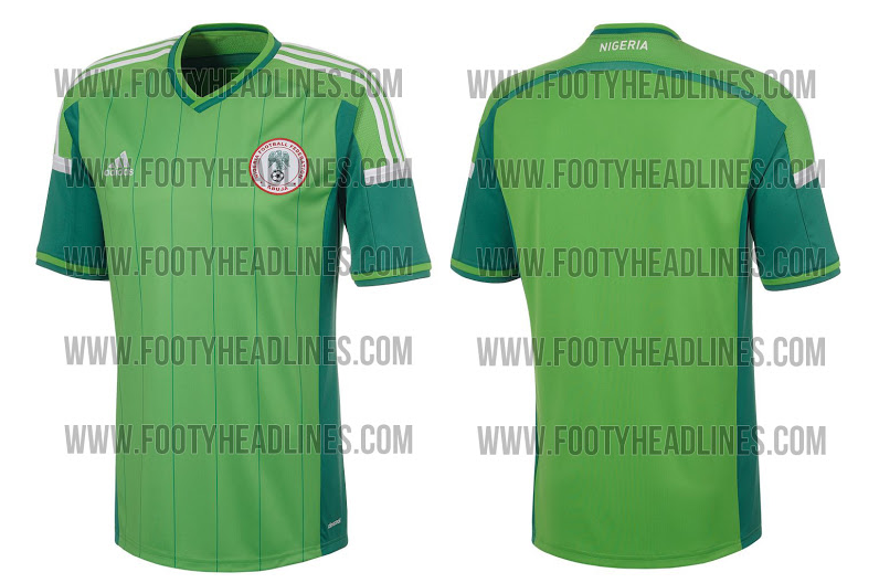 Camiseta de Nigeria para el Mundial de Brasil 2014