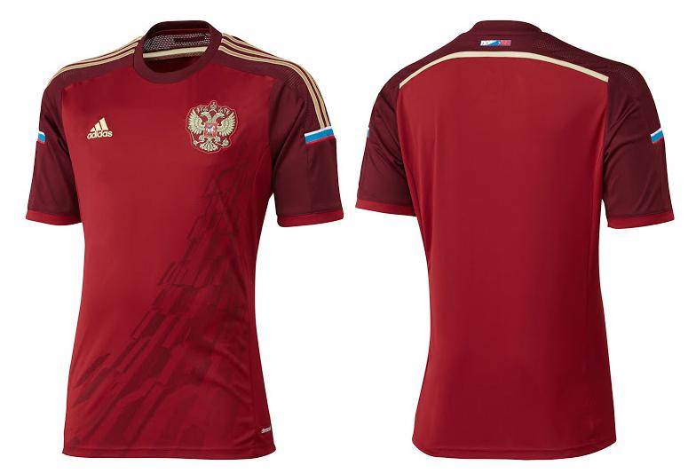 Camiseta de Rusia para el Mundial de Brasil 2014