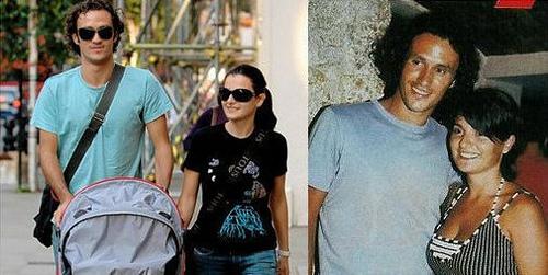 Ricardo Carvalho y su mujer