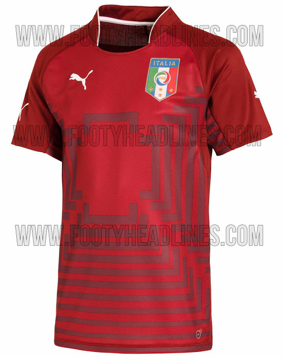La camiseta de Italia para el Mundial de Brasil 2014