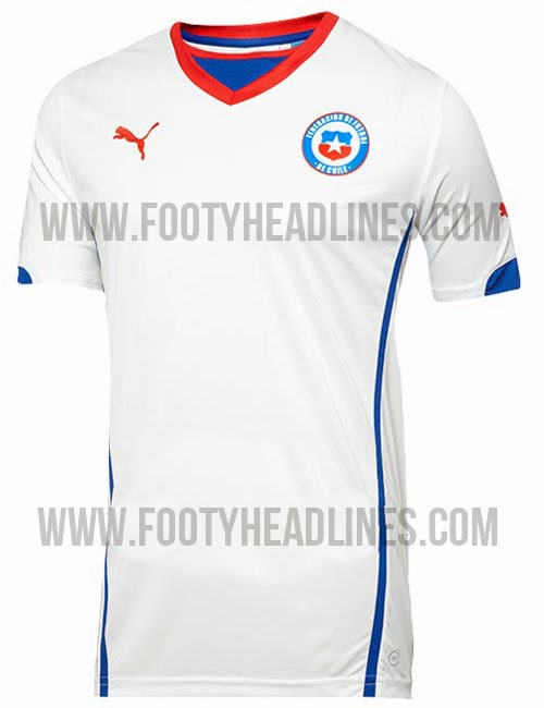 Camiseta visitante Chile Mundial Brasil 2014