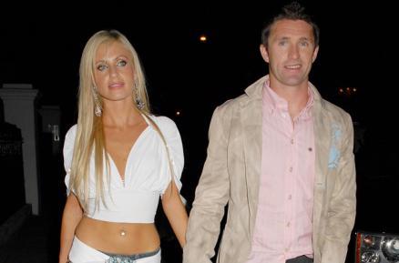 Robbie Keane y su novia Claudine
