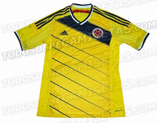 Camiseta Colombia Mundial Brasil 2014