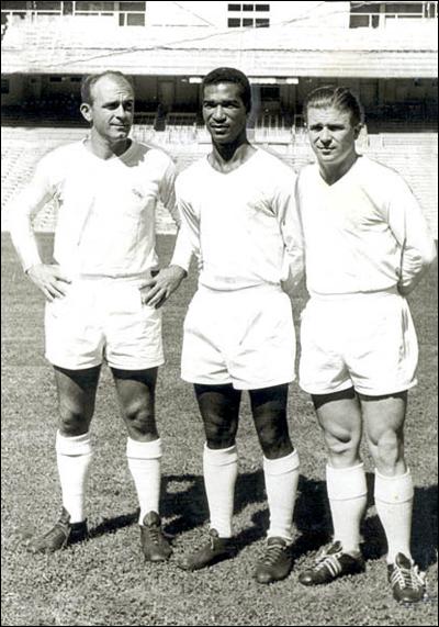 Didí con Puskas y Di Stéfano