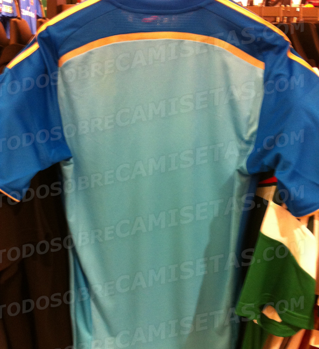 La camiseta de portero España para el Mundial de Brasil ...