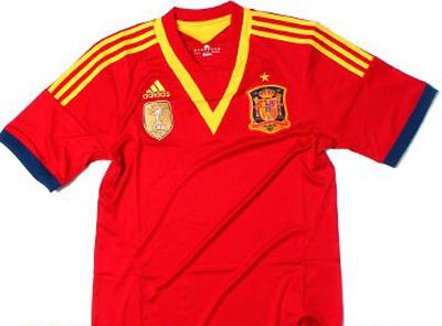 Camiseta de España para la Copa Confederaciones de Brasil 2013