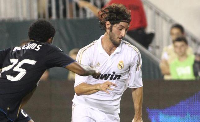 Esteban Granero durante un encuentro con el Real Madrid