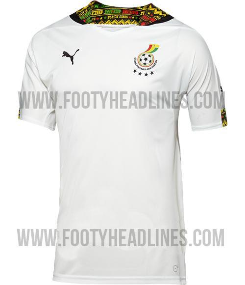 Camiseta de Ghana para el Mundial de Brasil 2014