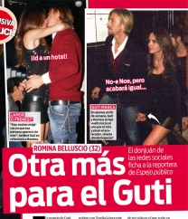 Romina Belluscio besando a Guti