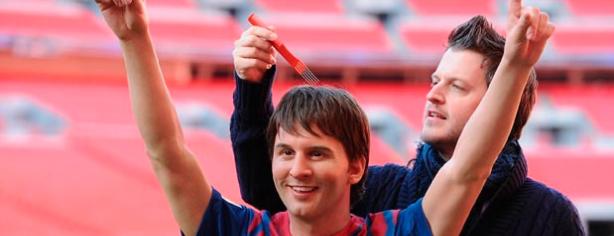 La escultura de cera de Lionel Messi en el Madame Tussaud de Londres