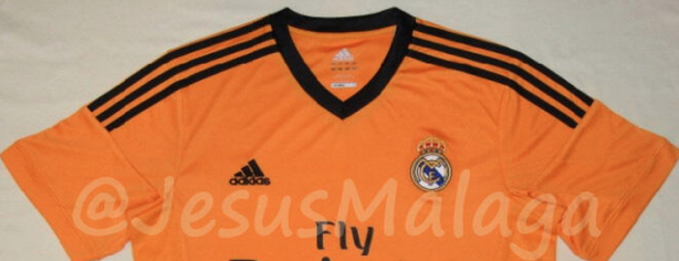 Camiseta naranja Real Madrid 2013-2014