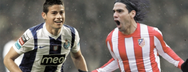 Falcao y James Rodríguez. Foto: totalconcierto.com