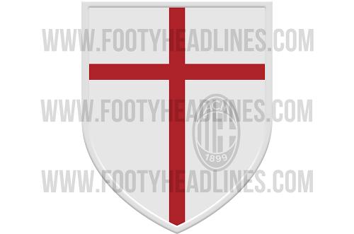 Escudo camiseta del AC Milan 2014 - 2015