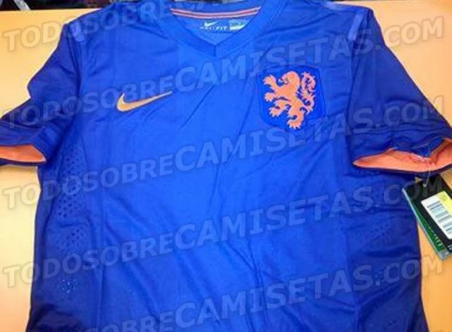 Camiseta de Holanda para Mundial de Brasil 2014