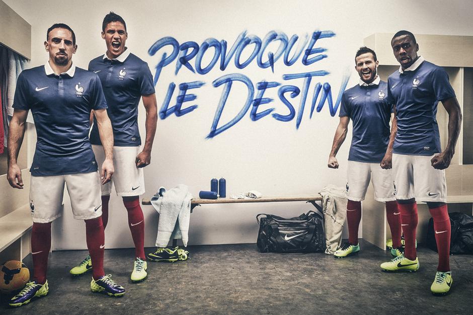 Camiseta de Francia para el Mundial de Brasil 2014