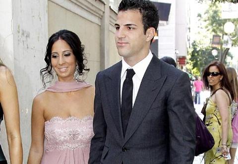 Cesc Fábregas y su novia Carla