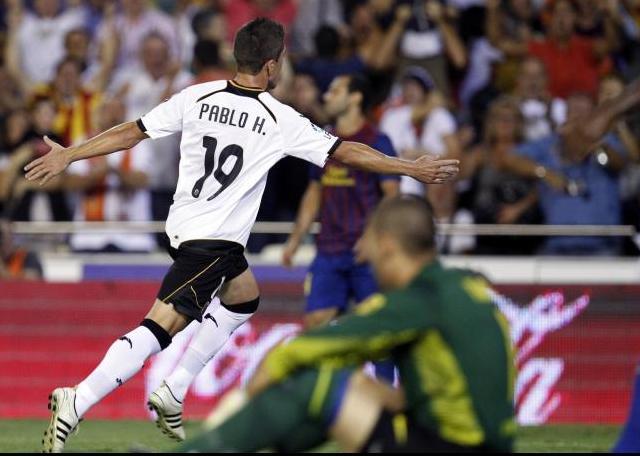 Pablo puso el 2-1 en Mestalla. Foto:lainformacion.com/EFE