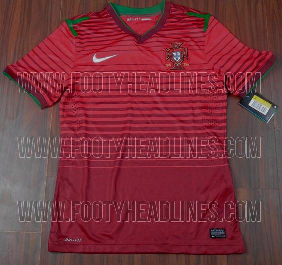 Camiseta de Portugal para el Mundial de Brasil 2014