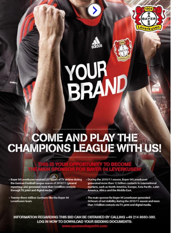Nuevo Publicidad Bayer Leverkusen