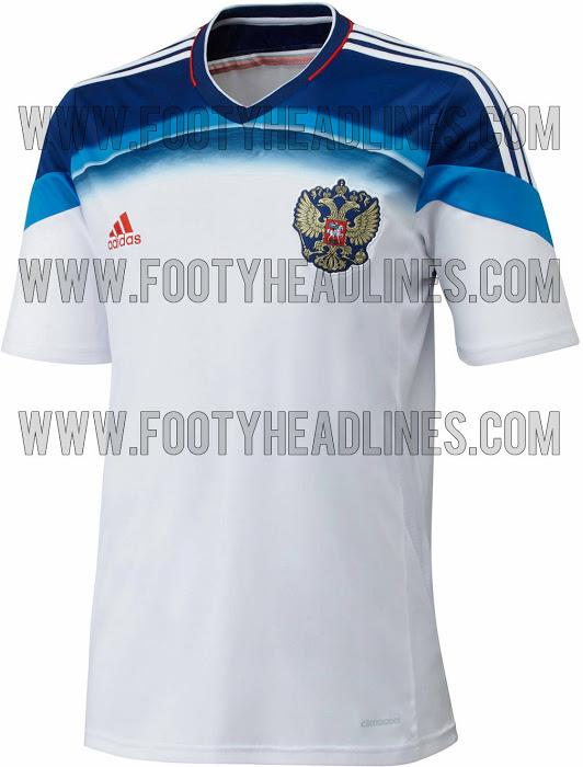 La camiseta suplente de Rusia para el Mundial de Brasil 2014