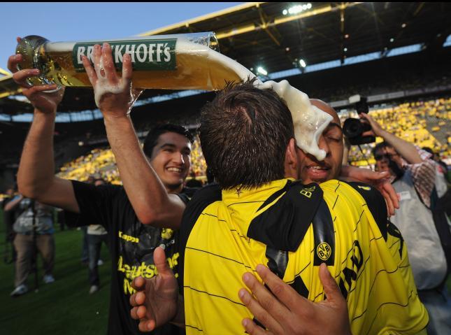 Sahin celebrando la Bundesliga/lainformación.com/Getty Images