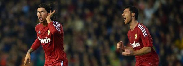 Sergio Ramos celebra el gol en Mestalla/ Lainformacion.com