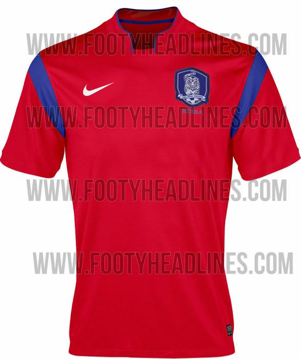 La camiseta de Corea del Sur para el Mundial de Brasil 2014