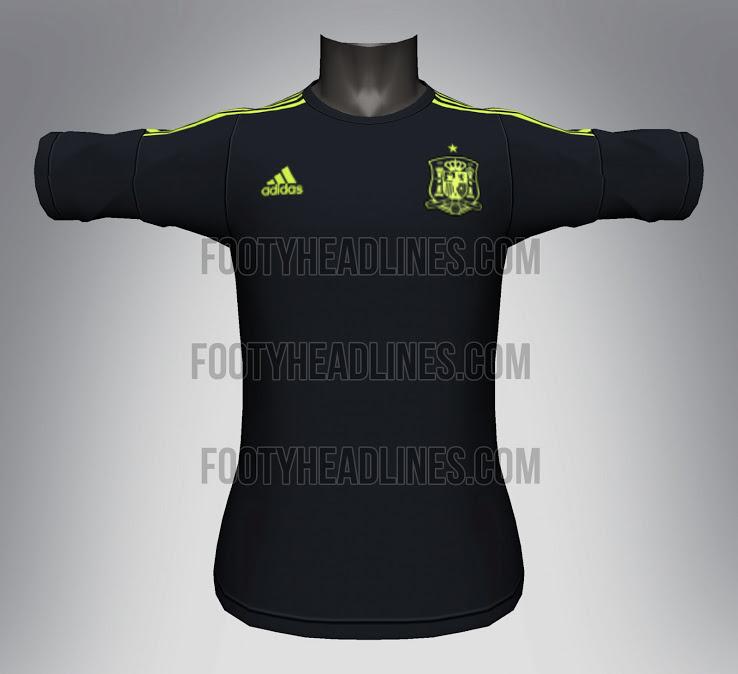 Camiseta suplente España Mundial 2014