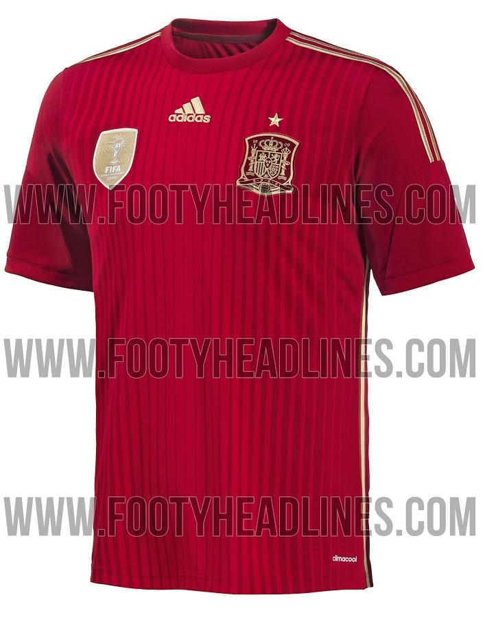 Camiseta España Mundial Brasil 2014