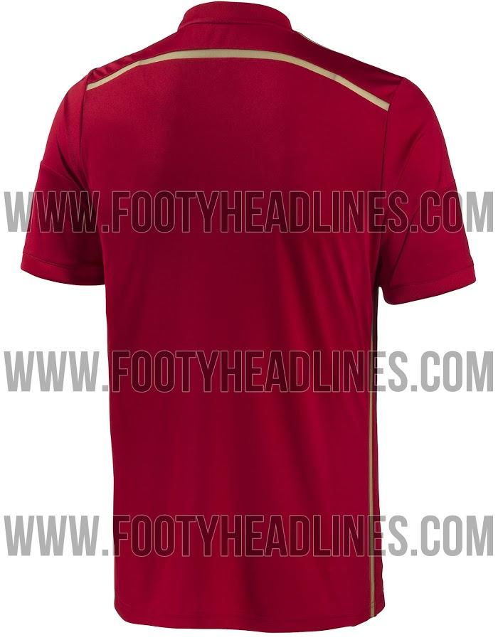 Así es la nueva camiseta de España para el Mundial Brasil ...
