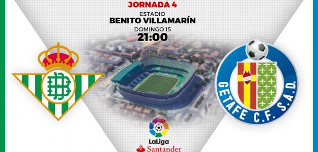 Betis y Getafe cerrarán la cuarta jornada de la Liga.