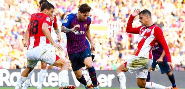 Athletic-Barça un clásico de la liga.