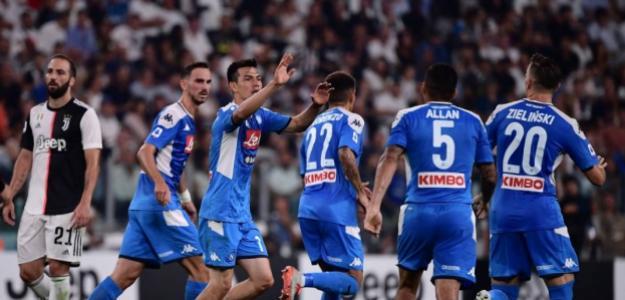 Hhirving Lozano anotó gol en su debut en la Serie A. FOTO: NÁPOLES