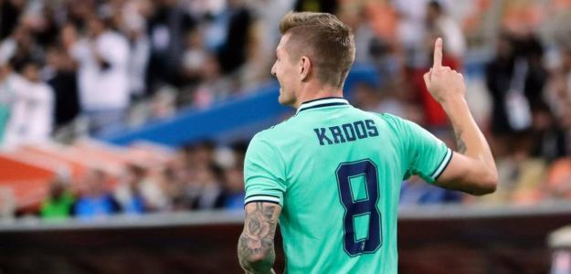 Toni Kroos en el partido contra el Valencia por la Supercopa de España. FOTO: REAL MADRID