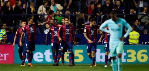 El Levante celebra uno de los goles en el partido de la anterior temporada