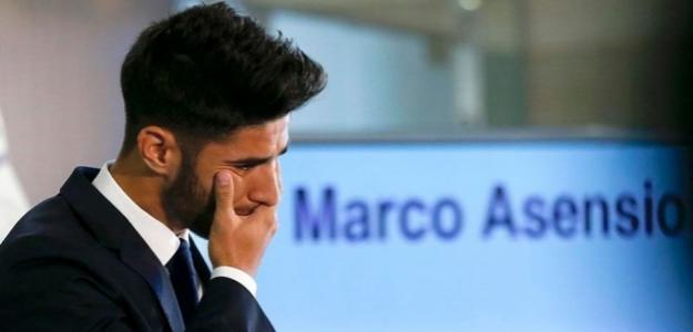 Marco Asensio, el día de su presentación con el Madrid