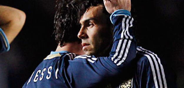 Messi y Tévez.