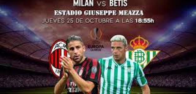 Milán y Betis se juegan el liderato de su grupo.