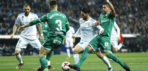 Real Madrid y Leganés en su anterior enfrentamiento copero.
