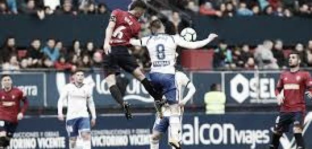 Zaragoza-Osasuna, duelo con sabor a Primera