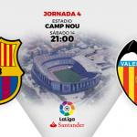 Barcelona-Valencia, el plato fuerte de la jornada