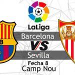 Barça y Sevilla serán los encargados de echar el telón a la octava jornada de Liga.