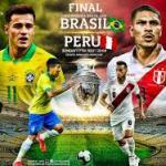 Brasil y Perú se jugarán el título en Maracaná.