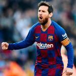 Messi, cometiendo un error: ¿boca abierta y sin mascarilla?